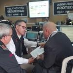 El Director General Adjunto de Grupo Sureste, Ivet Ramón Muñoz, en el transcurso del operativo del simulacro de emergencias.